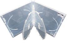 5 DVD Hüllen 4fach transparent klar mit 2 Trays für 4 Disc CD/DVD/BD-R 14 mm