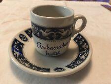 Ambassador Hotel, Jerusalem Vintage Demitasse Small Cup And Saucer, Maddock