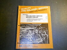 1975 Ford Pre-Delivery Service Video Tape Program 5 Road Test Inspection Manual