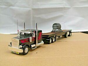 Dcp Custom stretched frame resin Freightliner FLC w/custom spread axle 1/64
