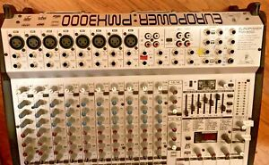 BEHRINGER EUROPOWER PMH3000 POWERED MIXER with cable snake