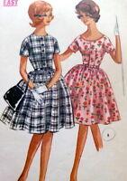 LOVELY VTG 1960s DRESS McCALLS Sewing Pattern BUST 32.5