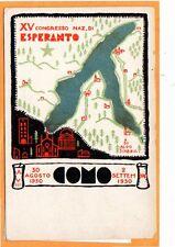 Esperanto Postcard- 15th Congress 1930 Como Italy