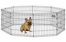 """MidWest Foldable Metal Exercise Dog Pen Pets Playpen 24""""W x 24""""H Indoor Outdoor"""