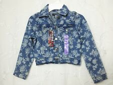 GIRLS TRACTOR DENIM JACKET ROSE PATTERN LONG SLEEVE BUTTON UP SIZE 7 NEW W/ TAGS