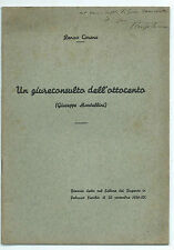 Libro Un Giureconsulto Ottocento (Giuseppe Mantellini) Autografo Renzo Carena