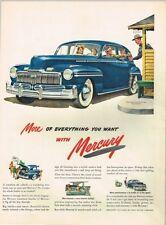 Original 1947 Mercury Car Toll Booth paper ad 10¼ x 14 inch Tavern Trove