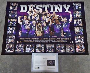 Melbourne Storm 2017 Premiership Premiers Destiny Print ONLY and COA