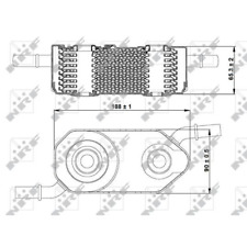 Oil Cooler Engine Oil - NRF 31364