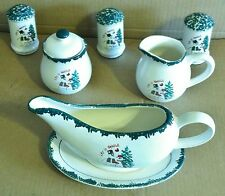 Let It Snow! 8-Piece Christmas Holiday Completer Set, Very Good Condition