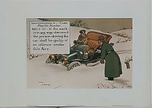 Identification of Cars by Charles Crombie Police themed reproduction print