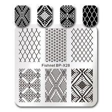 Nail Art imagen de Diseño Sellado Placas FISHNET plantilla BORN PRETTY 6*6cm