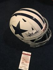 DAK PRESCOTT SIGNED DALLAS COWBOYS GAME USED HELMET JSA WITNESS
