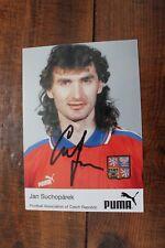 "More details for jan suchoparek 'czech republic' hand signed 6x4"" promo card football strasbourg"