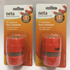 PLASTIC HOSE CONNECTOR 18MM HOSE TO 18MM CLICK-ON (BUNDLE X 2) - NETA