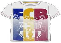 Boys Official Short Sleeve Barcelona FC T Tee Shirt Top  6 - 14 Years