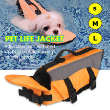 Orange Puppy Pet Dog Life Jacket Preserver Swimming Safety Protect Vest
