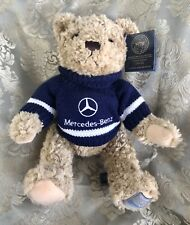 NWT Mercedes-Benz Sweater Herrington Teddy Bear Navy Blue Jointed Collectible