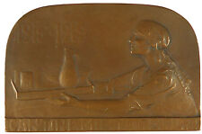 France cooking SOLDIERS' APPRECIATION FOR CANTINE MILITAIRE bronze 79mm x 53mm