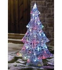 OUTDOOR 90CM COLOUR CHANGING LED LIGHTS ACRYLIC CHRISTMAS TREE GARDEN DECORATION