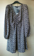 BNWT, PRETTY, BLACK & BEIGE SPOTTED DRESS BY DOROTHY PERKINS - UK 12
