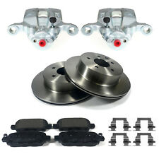 REAR CALIPERS DISCS & PADS PAD CLIPS FITS NISSAN X-TRAIL T30 01-07 PAIR BBK0057B