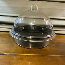 Used Cal-Mil Black Acrylic Sample Tray Plastic Dome  Clear Deep Tray Set 3 Piece