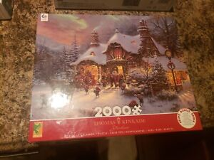 Thomas Kinkade Santa's Night Before Christmas 2000 Piece Jigsaw Puzzle
