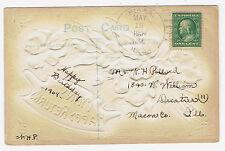 Piasa Illinois 1909 4-Bar hand cancel