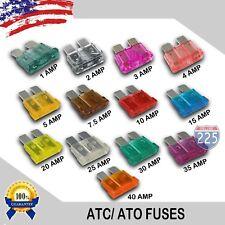 65 Pieces 1 - 40 AMP ATC Fuses 1A 2A 3A 4A 5A 7.5A 10A 15A 20A 25A 30A 35A 40A