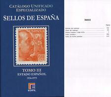 CATALOGO ESPECIALIZADO EDIFIL ESPAÑA TOMO III . 1936 A 1975 . SERIE AZUL . 2015