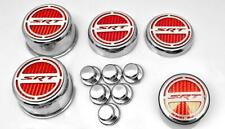 Red Carbon Fiber Fluid & Shock Tower Cap Covers for 2008-2020 6.4 SRT Charger