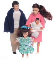 Dollhouse Miniature Doll Family, Brunette #00020~