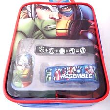 Marvel Avengers Assemble Gift Set Bag: Dogtag Necklace, Rubber Bracelets NWT