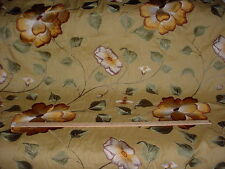 8Y COLEFAX FOWLER EMBROIDERED FLORAL BLOSSOM ON LINEN UPHOLSTERY FABRIC