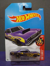 Hot Wheels 2017 FLAMES, '68 DODGE DART. New Purple MUSCLE CAR. Long card