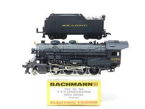 HO Scale Bachmann 0650 RDG Reading Company 2-8-0 Steam & Tender #2019 w/ Smoke