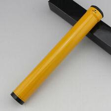 Yellow Aluminium Alloy Single Cigar Tube Single Cigar Humidor
