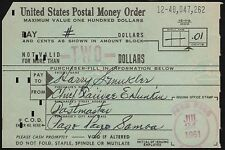 US POSTAL MONEY ORDER SAMOA 1961 BR6030