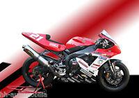 Yamaha Rennmotorrad DINA4 Poster Foto Motorrad Rennmaschine race motorcycle (1)