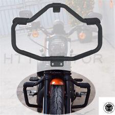 Black Front Engine Guard Crash Bar For Harley Sportster 1200 883 XL 48 72 XL1200