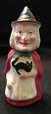 RARE ANTIQUE GERMAN PAPER MACHE WITCH CANDY CONTAINER