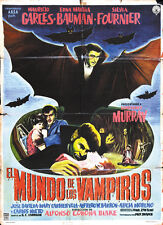 Vampires World - El mundo de los vampiros (1961) Horror Cult movie poster print