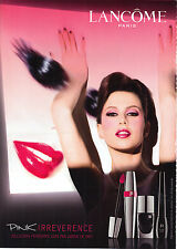 PUBLICITE ADVERTISING  2009   LANCOME  cosmétiques PINK IRREVERSIBLE