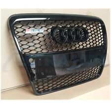 XB GRILLE FOR AUDI A6 4F C6 GLOSS  BLACK RS6 PDC SENSOR 04 - 11 FACELIFT