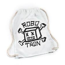 ROBOTRON Gym Sack Turnbeutel Roboskull White Skateboard