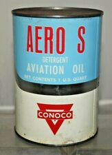 RARITY NOS 1940s - 50s Conoco Aero S Aviation Aircraft Advertising Gas Oil Can 3