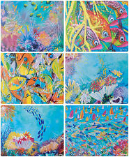 6 x LARGE WATERPROOF PLACEMATS (360x290mm) -AUSTRALIAN MADE - GREAT BARRIER REEF