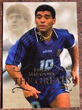 """Diego Maradona Argentina """"The Greats"""" Futera 2011 Soccer Card"""