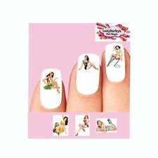 Waterslide Nail Decals Set of 20 - Sexy Pin up Girls Assorted #3 - 6 designs